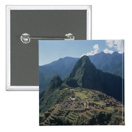 View of the citadel at Machu Picchu Buttons