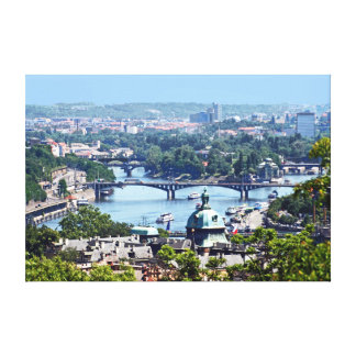 View of the city from Prague Castle. Canvas Print