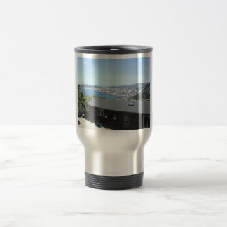 View Of The City With Mountains In Sun Shine Coffee Mug