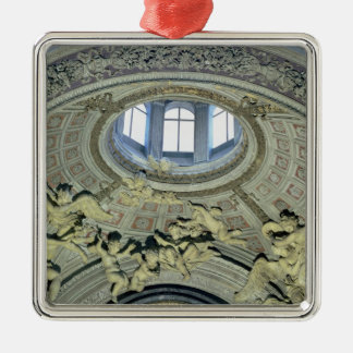 View of the cupola with angel musicians Silver-Colored square decoration