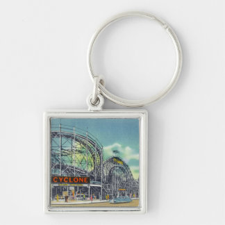 View of the Cyclone Rollercoaster # 2 Key Ring