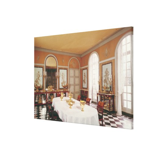 View of the dining room stretched canvas print