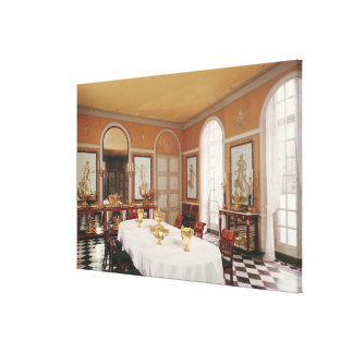 View of the dining room stretched canvas prints