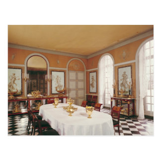 View of the dining room postcard