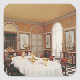 View of the dining room square sticker