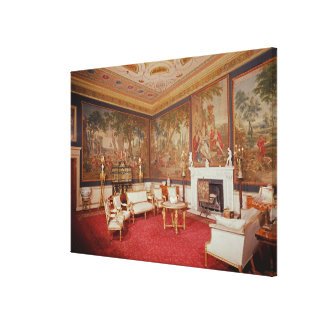 View of the drawing room stretched canvas prints