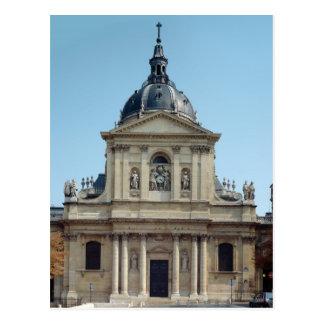 View of the facade, built 1635-42 postcard