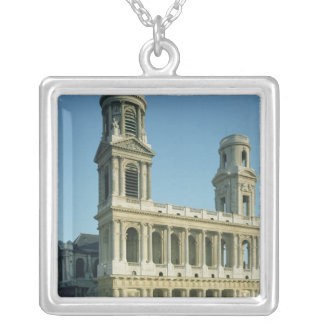View of the facade of the Church of Silver Plated Necklace