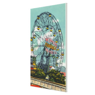 View of the Famous Wonder Ferris Wheel Canvas Print