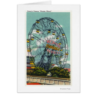 View of the Famous Wonder Ferris Wheel Greeting Cards