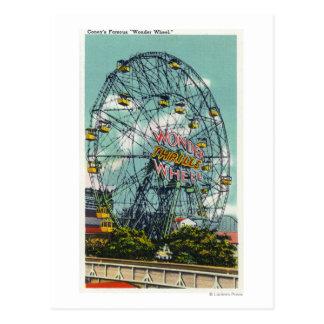 View of the Famous Wonder Ferris Wheel Postcards