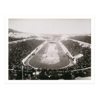 View of the first official Olympic Games in Athens Postcard