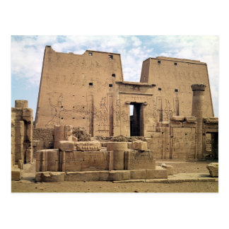 View of the first pylon of the Temple of Horus Postcard