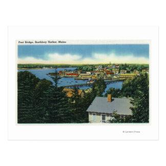 View of the Foot Bridge Postcard