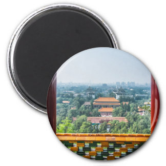 View of the Forbidden City from Jing Shan 6 Cm Round Magnet