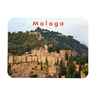 View of the fortress of Alcazaba in Malaga. Magnet