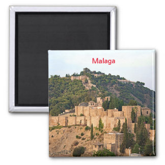 View of the fortress of Alcazaba in Malaga Magnet