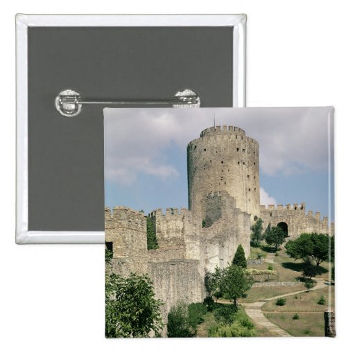View of the Fortress, started in 1452 Pinback Buttons