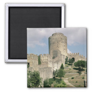 View of the Fortress, started in 1452 Square Magnet