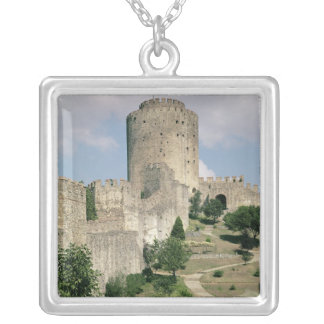 View of the Fortress, started in 1452 Silver Plated Necklace