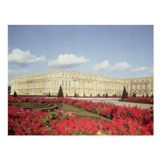 View of the garden facade postcard