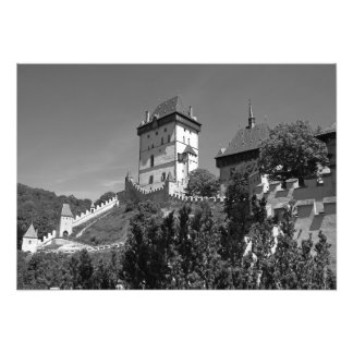 View of the Gothic castle Karlštejn. Photo Print