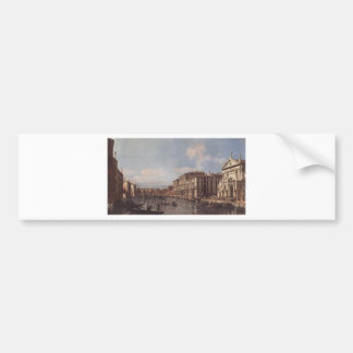 View of the Grand Canal at San Stae by Bernardo Bumper Sticker