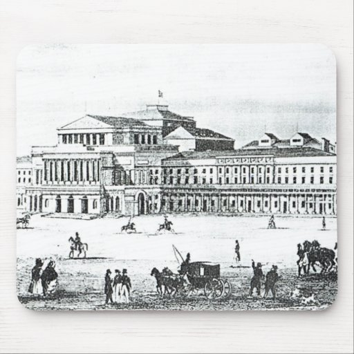 View of the Grand Theatre, Warsaw Mousepad