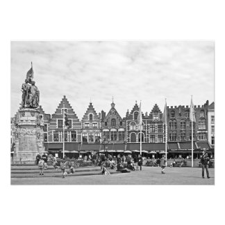 View of the Grote Markt in Bruges Photo Print