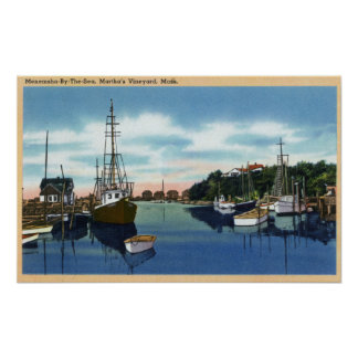 View of the Harbor, Martha's Vineyard Poster