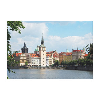View of the historical part of Prague. Canvas Print
