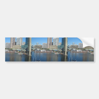 View Of The Inner Harbour Area At Baltimore, Md. Bumper Stickers