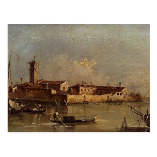 View of the Island by Francesco Guardi Postcard