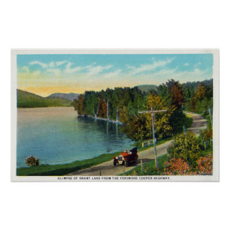 View of the Lake from the Fenimore Cooper Hwy Poster