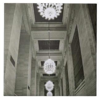 View of the lamps (b/w photo) large square tile