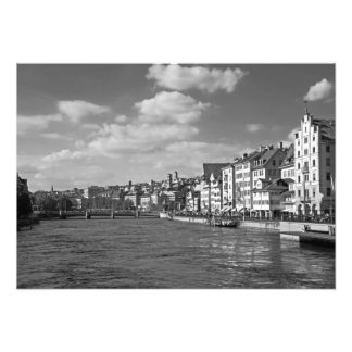 View of the Limmat River in the center of Zurich Photo Print