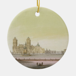 View of the main square in Mexico City (colour eng Ceramic Ornament