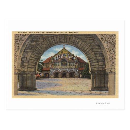 View of the Memorial Church, Stanford U. Postcard