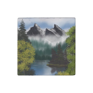 View of the Misty Mountains Stone Magnet