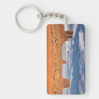 View of the Mittens, Monument Valley Double-Sided Rectangular Acrylic Key Ring