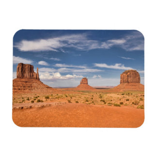 View of the Mittens, Monument Valley Rectangular Photo Magnet