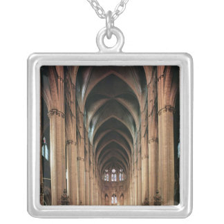 View of the nave, 1225-50 square pendant necklace