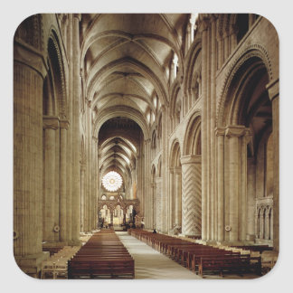 View of the nave, built 1093-1289 square sticker