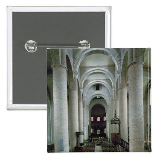 View of the nave, looking towards the altar 15 cm square badge