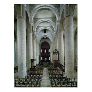View of the nave, looking towards the altar postcard