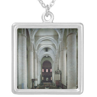 View of the nave, looking towards the altar square pendant necklace