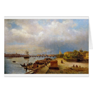 View of the Neva and Peter and Paul Fortress Greeting Card
