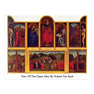 View Of The Open Altar By Hubert Van Eyck Postcard