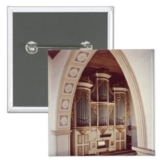View of the Organ in the church at Rotha 15 Cm Square Badge