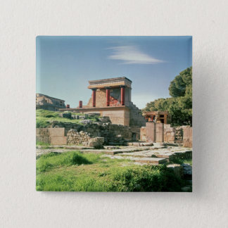 View of the Palace of Knossos 15 Cm Square Badge